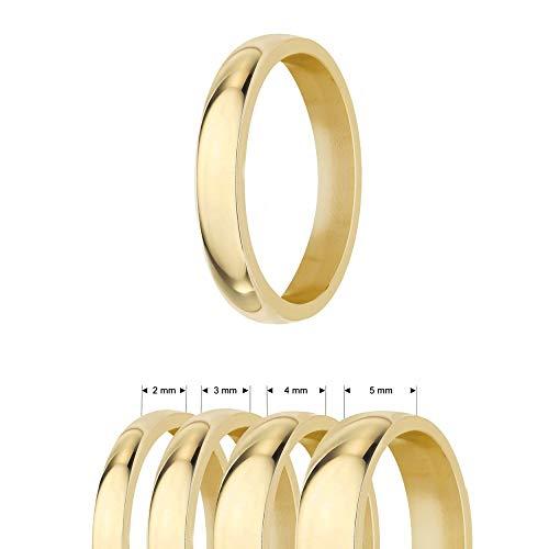 Treuheld® | Ring aus Edelstahl | Gold | Ringgröße 60 | Breite 3mm | Damen & Herren | glänzend | Freundschaftsring Verlobungsring Ehering
