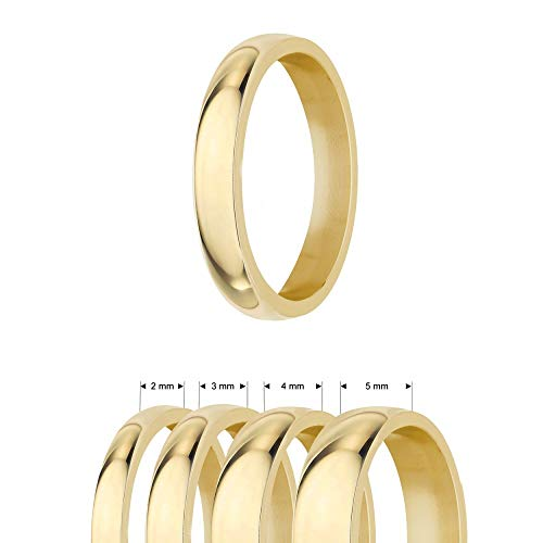 Treuheld® | Ring aus Edelstahl | Gold | Ringgröße 60 | Breite 5mm | Damen & Herren | glänzend | Freundschaftsring Verlobungsring Ehering