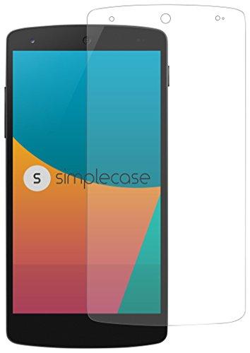 Simplecase Panzerglas passend zu LG Nexus 5X , Premium Bildschirmschutz , Schutz durch Extra Festigkeitgrad 9H , Hülle Friendly , Echtglas / Verb&glas / Panzerglasfolie , Transparent - 1 Stück