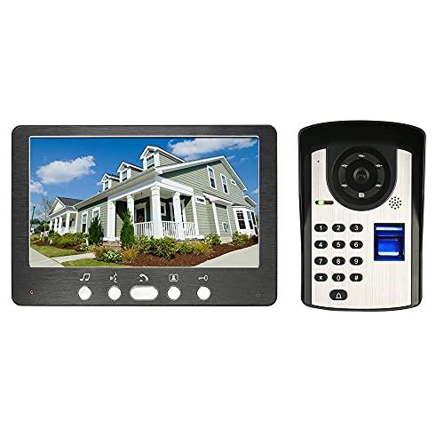 OUYA Videocitofono Cablato IP55 Sistema Di Accesso Interfono Impermeabile, Supporto Telecamera IR con Visione Notturna, Sblocco Controllato Elettronicamente
