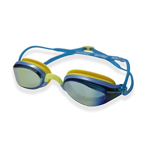 Hammerhead Aquatech Mirror , Óculos de Natação, Unissex Adulto, Dourado Esp /Ama.-Az. Roy., Único