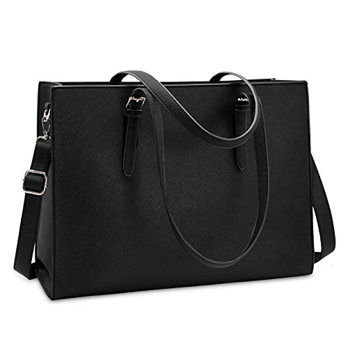 ☆Classy & Professional Laptop Women Bag☆ - Made of durable and premium water-repellent scratch-resistant soft PU leather and polyester lining. Metal feet base protects your bag from damage. NUBILY laptop bag is perfectly poised and beautiful style an...