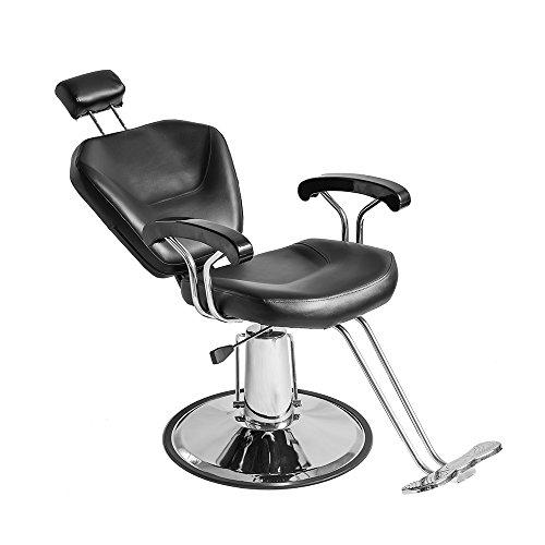 Salon Beauty - Silla reclinable para peluquería, color negro