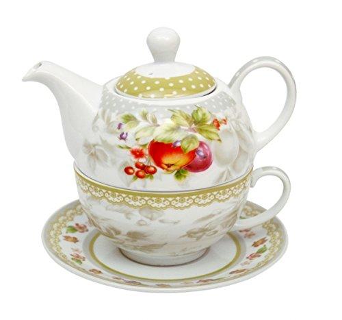 Tea for one - Teekanne + Tasse Amazonia Dekor Obst