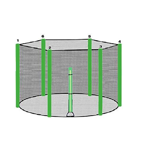 ULTRAPOWER SPORTS Trampolinzubehör Ersatznetz Sicherheitsnetz für Trampolin   Ø 244   6 Stangen   UV-beständig   Extrem Reißfest Trampolinnetz Grün