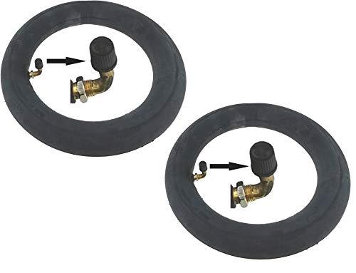 P4B | 2x 10 Zoll Schläuche | Für Kinderwägenreifen | Nahtloser Schlauch | FORMGEHEIZT | Spezial-BUTYL-Mischung | 10 x 2,0 | 54-152 | AV 40mm | Kinderwagen Reifen | Kinderwagen Schlauch 10x2