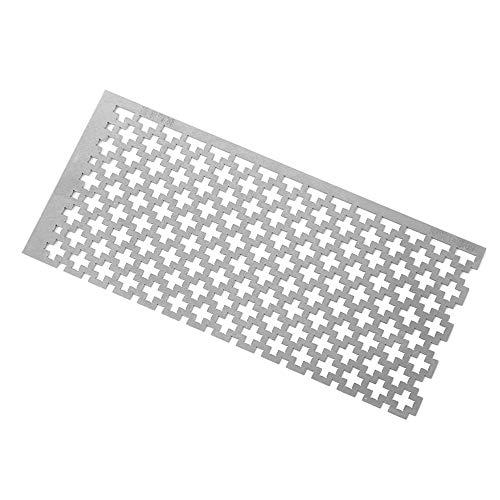 negaor Quadratischer Diamant-Punktbohrer, Edelstahl-Lineal, DIY-Diamant-Malwerkzeug, Diamant-Malerei.