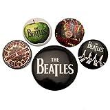 Button The Beatles - White, x cm, 4 x 38 mm cm