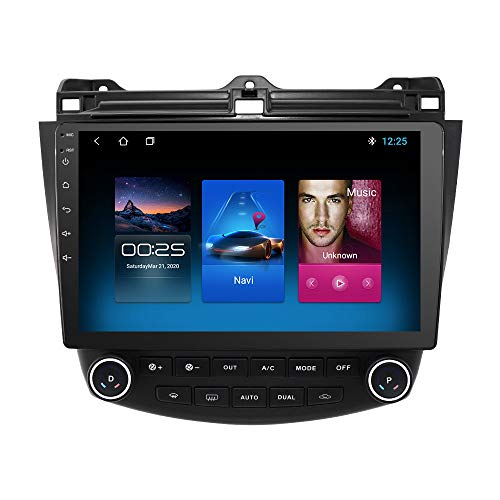 OSSURET 10.1 Inch 2GB+32GB Android 10 Car Audio GPS Navigation for Honda Accord 7 2003-2007 Head Unit A/C Control 1080P Video Bluetooth WIFI Mirror Link Radio Player