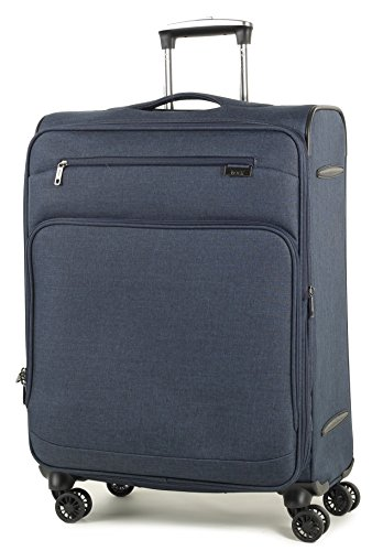Rock Madison 67cm Lightweight Expandable Four Wheel Spinner Suitcase Navy