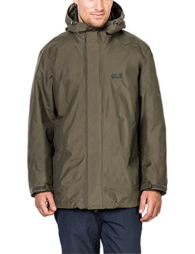 Jack Wolfskin Herren 3-in-1 Jacke Iceland, Granite, Medium