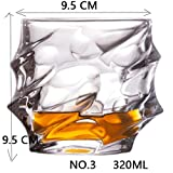 FIF Schnapsglas, Whiskey-Kristallglas, Party, Hochzeit, Wein, Likör, Kaffee, Tee, Becher für Bier, Spirituosen, Nr. 3, 320 ml