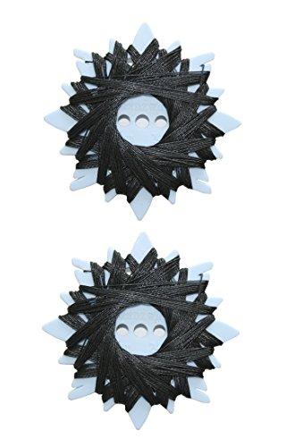 B2Q Sternzwirn Ramie extra stark 24/3 20m schwarz 2 Stück (0002)