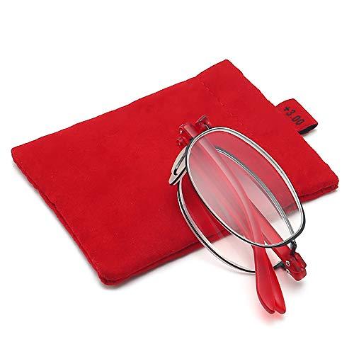Mouwa Blaues Licht Blockiert Lesebrille, UV-Schutz Halbrand-Lesebrille Zum Falten Lindert Ermüdungserscheinungen Der Augen Und Blockiert Kopfschmerzen Für Unisex,B,2.0