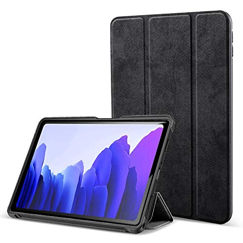 Robustrion Marble Series Smart Trifold Flip Stand Case Cover for Samsung Galaxy Tab A7 10.4 inch [SM-T500/T505/T507] 2020 - Black
