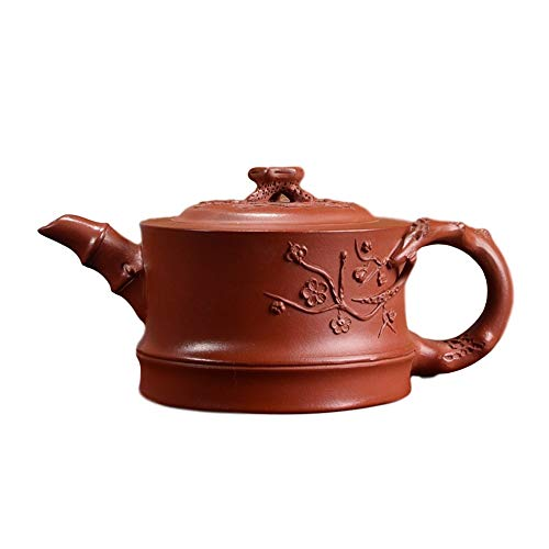 Kungfu Porcelain Lid Teas Teacups Sets Teapot Plum Pile LEBAO (Color : Brown)