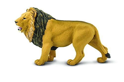 Safari Ltd Wildlife Wonders Lion Realistic Hand Painted Toy Figurine Model Quality Construction from Safe and BPA Free Materials For Ages 3 and Up Large