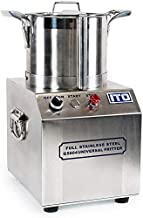 FonChef 550W Stainless Steel Commercial Grade Food Processor 1400RPM High Output 4L CE Certified Kitchen Fritter