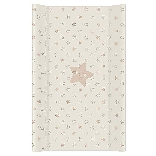 Ceba Baby Cambiador Bebe Impermeable para Niños y Niñas - Beige de Estrellas 70x50 cm