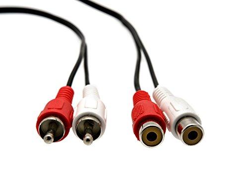 KnnX 28042 | Stereo Audio RCA-Verlängerungskabel | 2 x Phono-Stecker auf 2 x Phono-Buchse | Länge: 2,00M