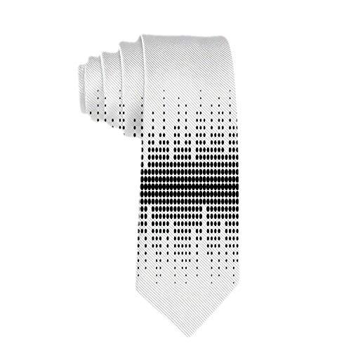 Web--ster Corbata de negocios clásica para hombre Corbata Patrón de ondas sonoras Corbatas de puntos de diferentes tamaños