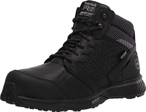 Timberland PRO Women's Reaxion Athletic Hiker Work Shoe Industrial Boot, Black/Grey, 7.5