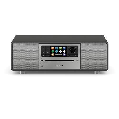 sonoro Prestige Design Kompaktanlage (FM/DAB+, WLAN, CD, AUX, Bluetooth, Spotify, Amazon Music, Deezer) Matt Graphit (2020)