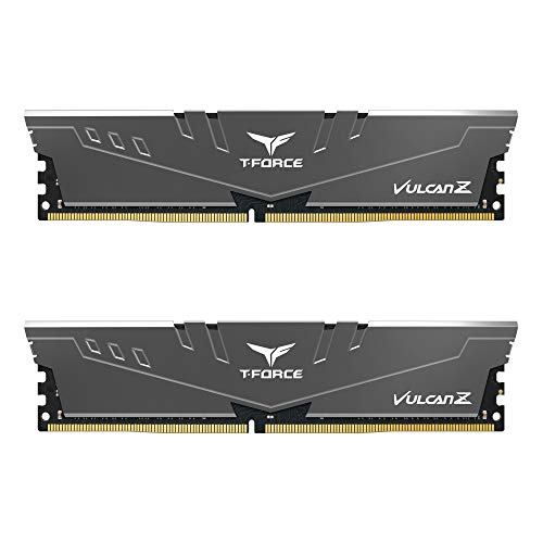 TEAMGROUP T-Force Vulcan Z DDR4 16GB Kit (2x8GB) 3000MHz (PC4-24000) CL16 Desktop Memory Module Ram (Gray) - TLZGD416G3000HC16CDC01