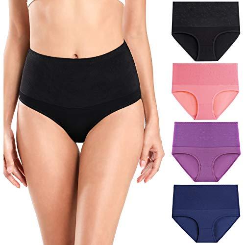 wirarpa Unterwäsche Damen Unterhosen Baumwolle Slips 4er Pack Mehrfarbig Größe XS