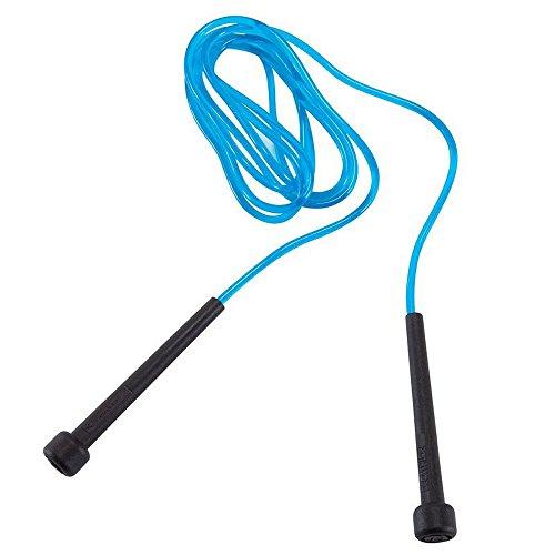 Domyos Kinder Springseil–verstellbar max Länge 2,4m für Kinder, blau/schwarz