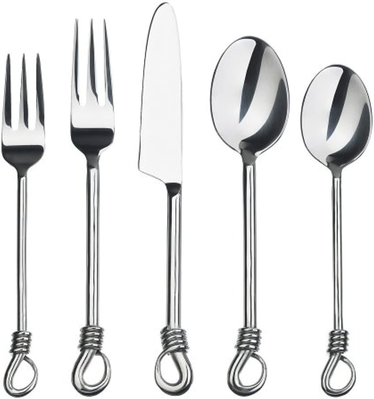 Gourmet Settings Twist 20-Piece Flatware Set, Service for 4