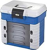 Behr Superbox - Caja de asiento y maletín de pesca, soporta hasta 150 kg, rellenable hasta 50 kg, 4 cajones resistentes a cebo blando, dimensiones 420 x 303 x 400 mm
