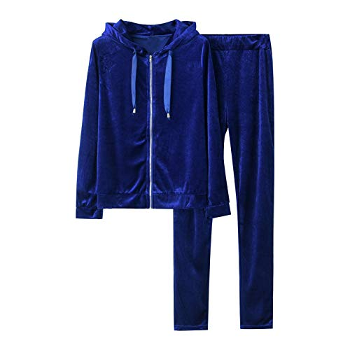 Fossen MuRope 2 Piezas Chándal Mujer Conjunto, Chándales para Mujer Tops Sudaderas + Pantalones Deportivos Pijamas Gimnasio, Entrenamiento