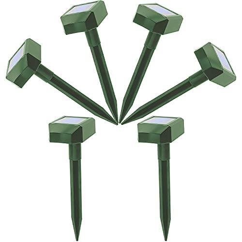 Mole Repellent Vole Repellent Outdoor,Solar Powered Mole Repellent, Groundhog Repellent for Lawn, Yard & Garden (6 Pack)