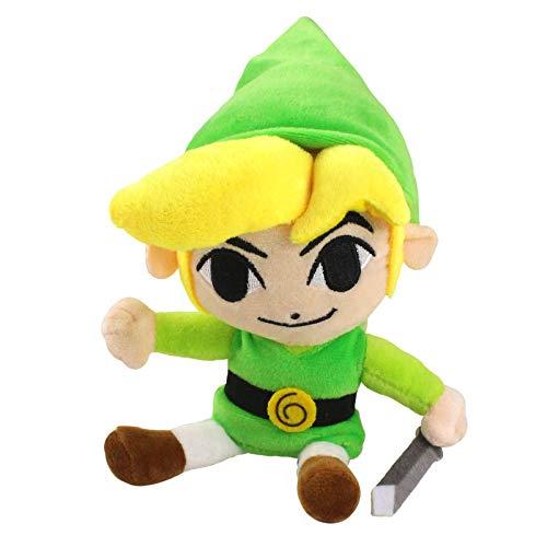 siqiwl Peluche 20cm Zelda Link Boy Juguetes De Peluche Link con Espada Escudo Muñeco De Peluche Suave Regalos De Cumpleaños para Niños Niños
