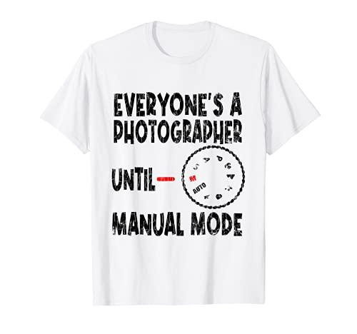 Todo el mundo es un fotógrafo divertido fotografía cámara gráfica Camiseta