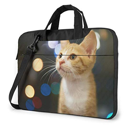 XCNGG Bolso de hombro Computer Bag Laptop Bag Carrying Laptop Case, Cute Kitten Print Computer Sleeve Cover with Handle, Business Briefcase Protective Bag for Ultrabook, MacBook, Asus, Samsung, Sony,