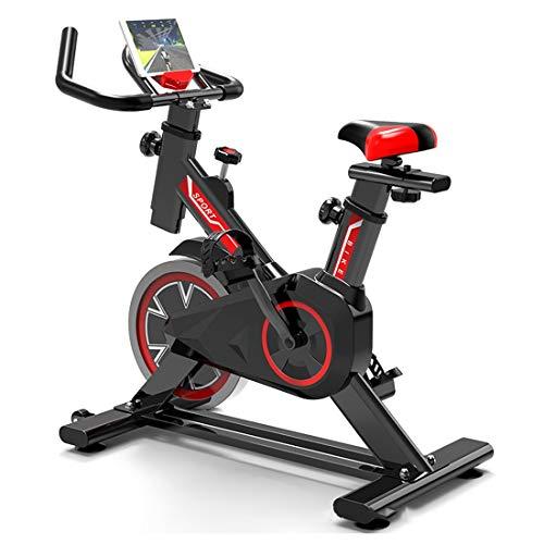 GTYHJUIK Bicicleta estáticas para Fitness, Bicicleta De Ejercicio Profesional Ajustable con Pantalla LCD,Bicicleta De Fitness Cubierta, Bici de Spinning
