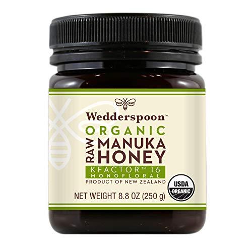 Wedderspoon Raw Organic Manuka Honey KFactor 16+ Unpasteurized, Genuine New Zealand Honey,...