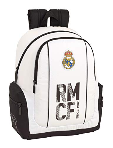 Real Madrid CF 611854662 Mochila Adaptable a Carro  Niños  Blanco  43 cm