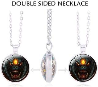 KuierShop(TM) DOTA 2 Immortal Champion Shield Glass Round Dome Necklace Aegis Men Pendant