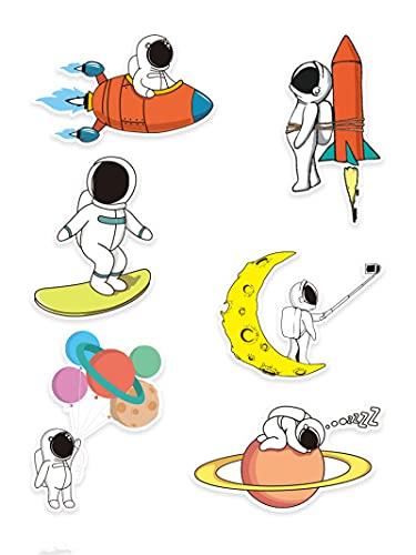 BUCUO Cartone Animato Carino Astronauta Valigia Adesivi Personalizzati Valigia Portatile Cellulare Shell Adesivi