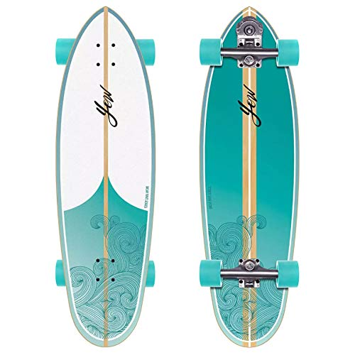 YOW J-bay 33' Dream Waves Series, Complete Surfskates Unisex Adulto, Multicolore, Taglia Unica