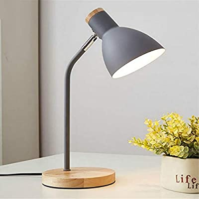 Lámparas de escritorio DAIFHI E27 interruptor de botón de madera ...