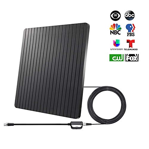 Review TV Antenna, Digital Amplified Indoor HD TV Antenna 65+ Miles Range, with Amplifier Signal Boo...