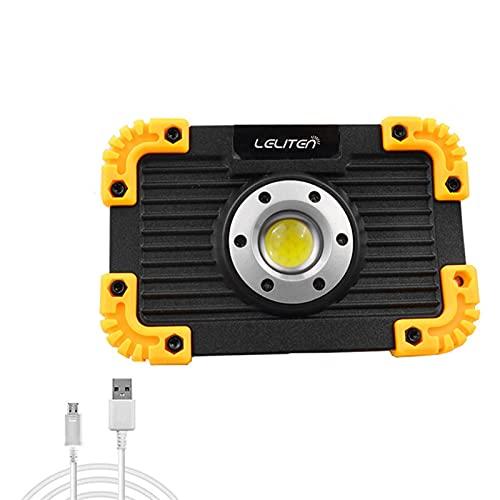 Linterna recargable USB Portátil COB Linterna Linterna Linterna al aire libre Tienda de tiendas de tiendas de campaña para 18650 o Linternas de la batería AAA Super Bright (Body Color : No Battery)