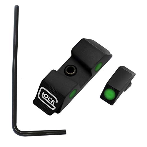 Ight,Handgun Scopes,Hygoo Luminous Glow in Dark Fiber Opitc Front and Rear Pistol Sight Compatible with Glock