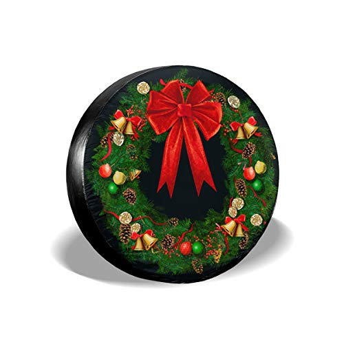 christmas wreath spare tire cover