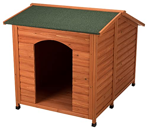 TRIXIE Natura Classic Dog House, Adjustable Legs, Brown, XXL