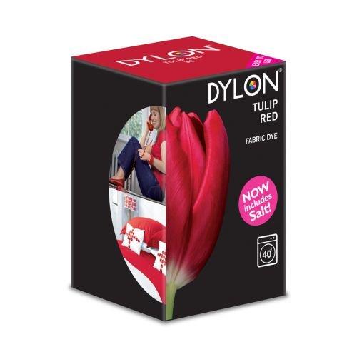 Dylon Maschine Dye 350g Salz enthalten. Tulip rot–Bulk Rabatt erhältlich rot